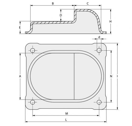 butee centrale sur platine pour portail battant accessoires quincaillerie ab automatismes. Black Bedroom Furniture Sets. Home Design Ideas