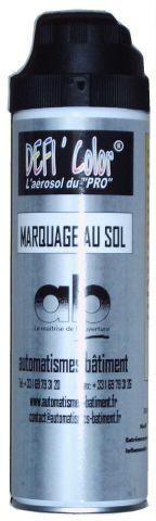 bombe peinture aerosol noir pour marquage au sol accessoires marquages au sol ab. Black Bedroom Furniture Sets. Home Design Ideas