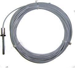 cable acier gaine pour abmatic 2450 accessoires liaisons. Black Bedroom Furniture Sets. Home Design Ideas